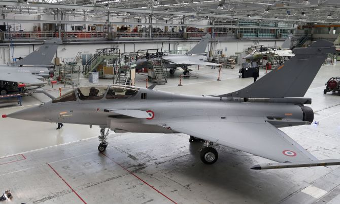 A Rafale fighter aircraft in the French assembly line. Source - Net.