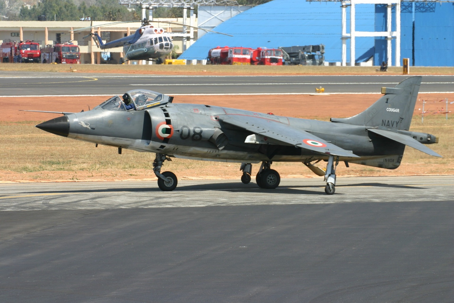 Sea Harrier of the Indian Navy; Source - Net.