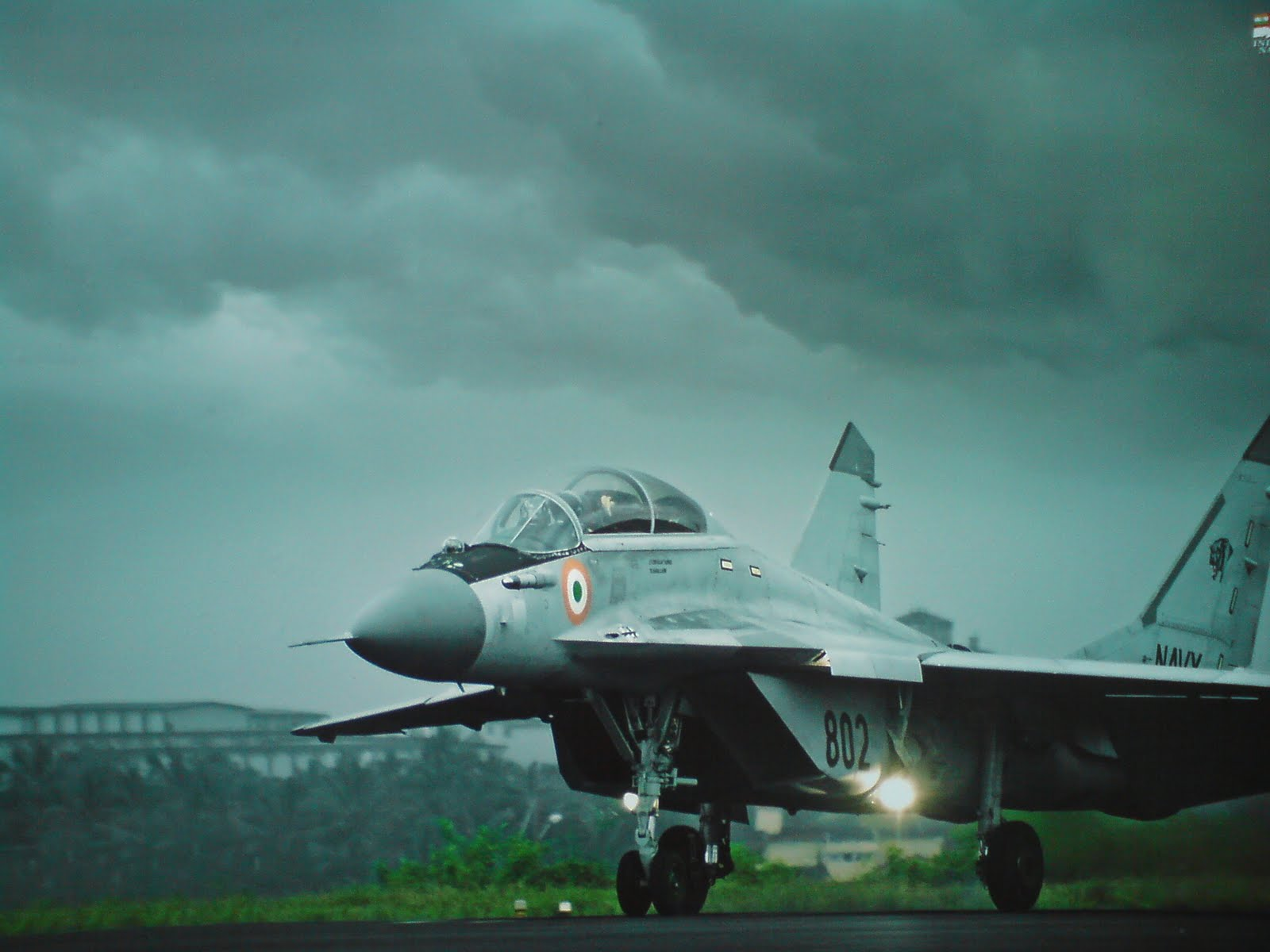 A MiG - 29K fighter aircraft taking off from Goa.