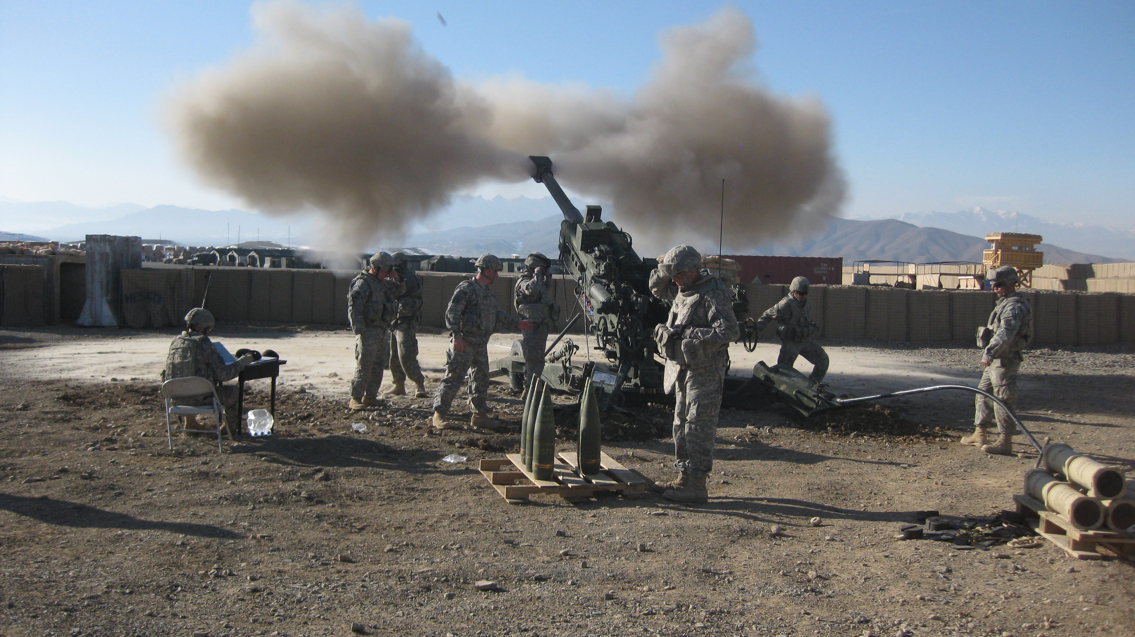 M777 howitzer in action. Source - Net.