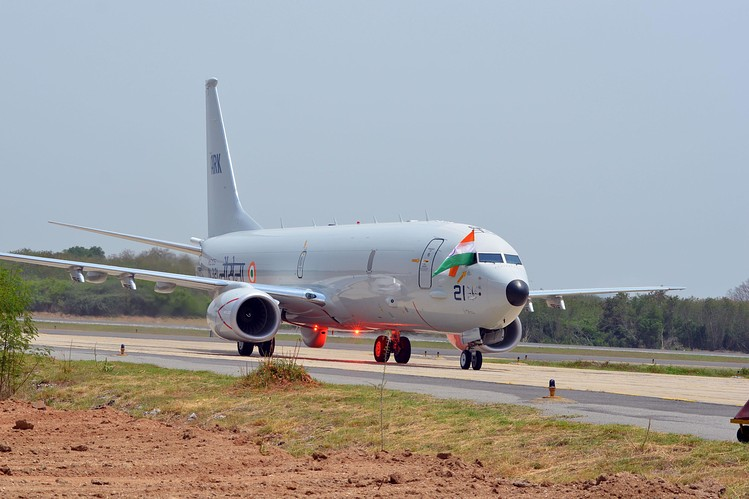 A Boeing P8I long range maritime surveillance aircraft of the Indian Navy. Source - WSJ.