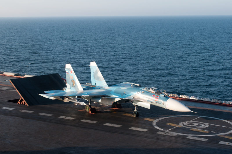 Sukhoi Su-33 of the Russian Navy.