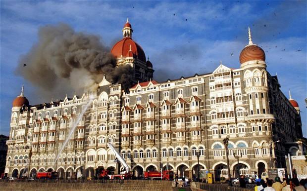 Hotel Taj Mahal Burns. Source - Net.