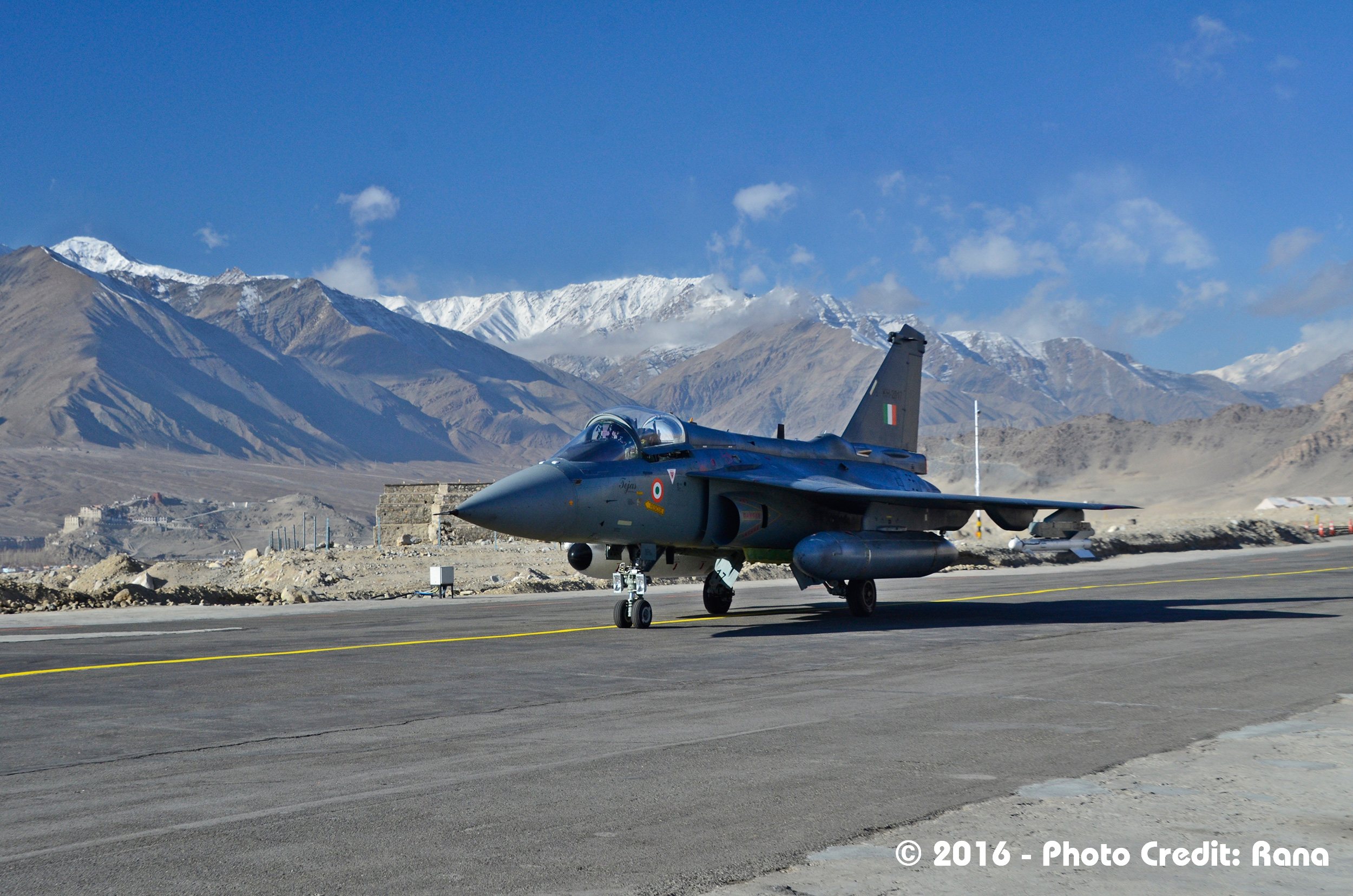 LCA Tejas conquering the Himalayas; Source - Deb Rana.