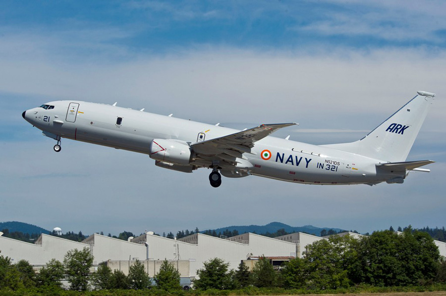 A P8I Neptune ASW aircraft of the Indian Navy gloriously lifting off. Source - Boeing.