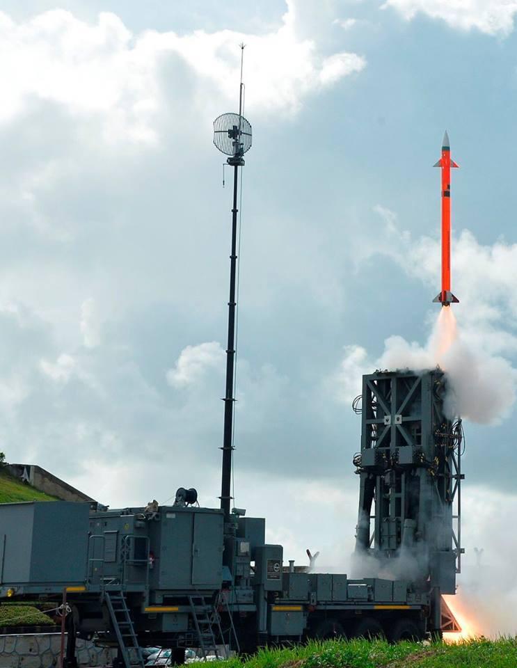 Indo - Israeli developed MRSAM being test fired from off Odisha coast.